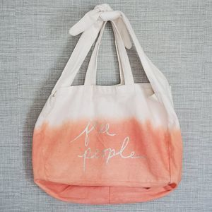 Free People canvas bag tote ombre logo purse